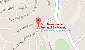 Localização da Sarrat & Silva Hospedagem para Idosos